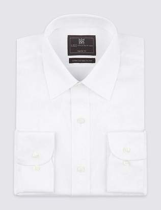 Marks and Spencer Cotton Rich Twill Regular Fit Shirt