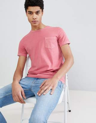 Benetton Crew Neck T-Shirt In Pink