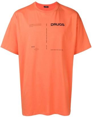 Raf Simons drugs print T-shirt