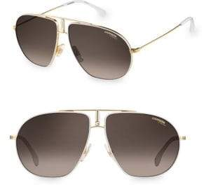 9b6c3446ba Carrera Men s 60MM Bound Aviator Sunglasses - White Gold