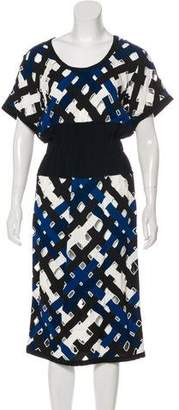 Louis Vuitton Cutout Midi Dress
