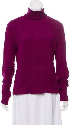 Oscar de la Renta Cashmere & Silk-Blend Turtleneck Sweater