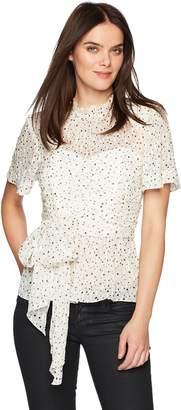 Rebecca Taylor Women's Short Sleeve Star Tie Top