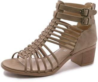 b9530f0e69c TOETOS Women s IVY 02 Nude Fashion Ankle Strap Block Heeled Sandals