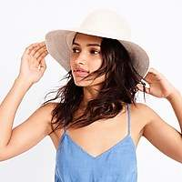 J.Crew Factory Brimmed hat with cotton trim
