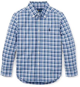 Ralph Lauren Long-Sleeve Plaid Button-Down Shirt, Size 2-4
