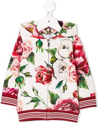 Dolce & Gabbana Peony print hoodie