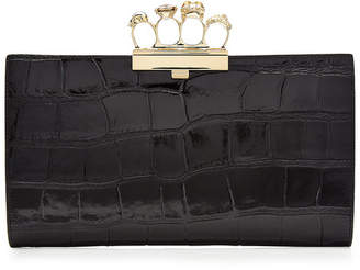 Alexander McQueen Embossed Leather Brass Knuckle Clutch