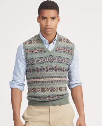 Ralph Lauren Fair Isle Wool-Blend Vest