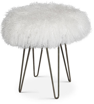 Le-Coterie Curly Hairpin Stool - White