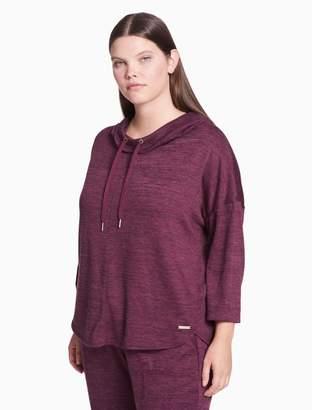 Calvin Klein plus size performance cowl neck pullover hoodie
