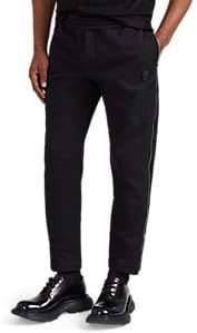 Alexander McQueen Men's Skull-Patch Cotton Fleece Jogger Pants - Black