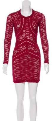 IRO Lace Long Sleeve Mini Dress
