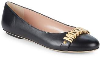 Moschino Women's Leather Ballet Flats