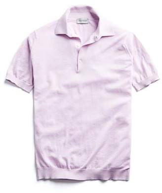 John Smedley Sweaters Sea Island Cotton Polo in Pink Blossom