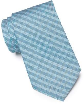 Calvin Klein Ridge Mini Check Silk Blend Tie