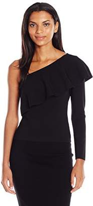 Milly Women's One Shoulder Flounce Top