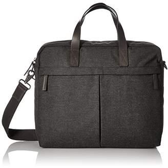 Fossil Men's Buckner Top Zip Workbag Black