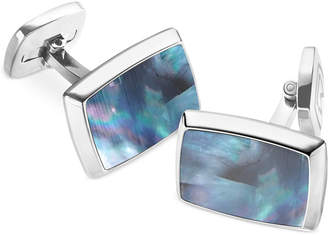 Mother of Pearl M-Clip Rectangle Cufflinks