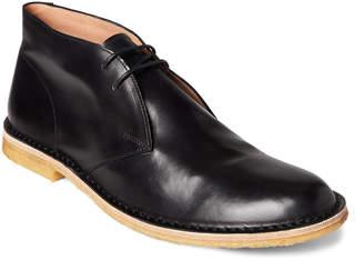 Dries Van Noten Black Leather Chukka Boots