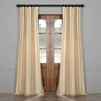 Fleur De Lis Living Bobby Faux Silk Stripe Thermal Single Curtain Panel