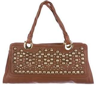 Oscar de la Renta Embellished Shoulder Bag