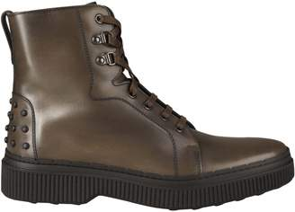 Tod's Studded Lace-up Boots