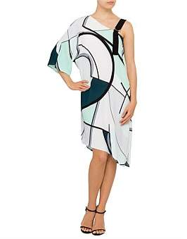 Studio.W Printed One Shoulder Dress