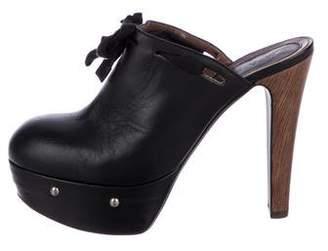 Marni Leather Platform Mules