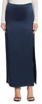 Halston Satin Maxi Skirt