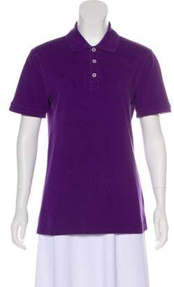 Armani Collezioni Embroidered Polo Top