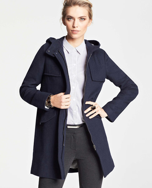 Ann Taylor Petite Wool Blend Duffle Coat
