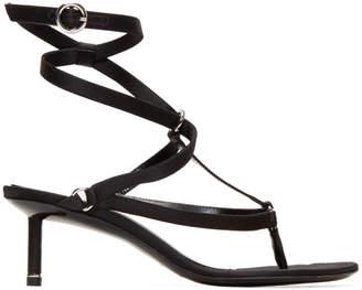 Alexander Wang Black Satin Kit Sandals