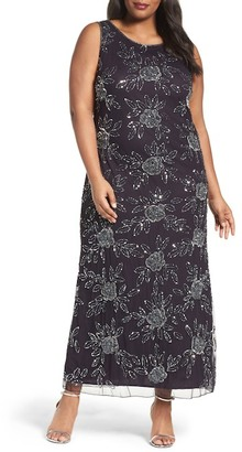 Pisarro Nights Embellished Gown (Plus Size) $268 thestylecure.com