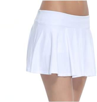 Cityoung Women's 3D Printed Pleated Tennis Skirt Golf Skort With Hidden Pocket Size M