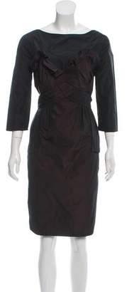 Pringle Long-Sleeve Cocktail Dress
