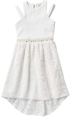 Couture Monteau Beehive & Jeweled Lace Dress (Big Girls)