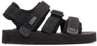 Suicoke Black and Grey Kisee-V Sandals