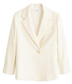 MANGO Recycled wool suit blazer