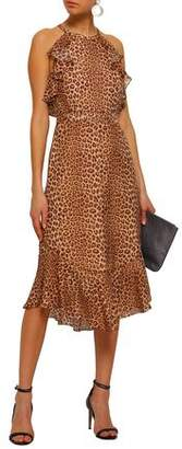 Rachel Zoe Posie Cape-effect Leopard-print Silk-chiffon Midi Dress