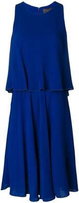 Max Mara double layer flared dress