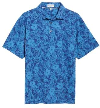 Peter Millar Crown Floral Cotton & Silk Polo Shirt