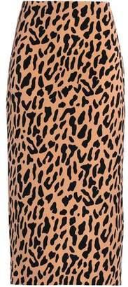 Diane von Furstenberg Checked Jersey Midi Pencil Skirt