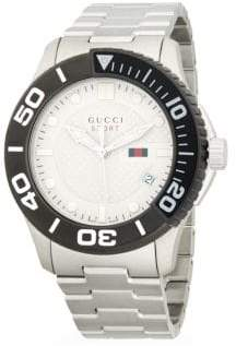 Gucci Logo Stainless Steel Bracelet Watch
