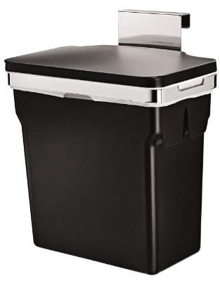 Simplehuman 10 Liter / 2.6 Gallon In-Cabinet Kitchen Trash Can