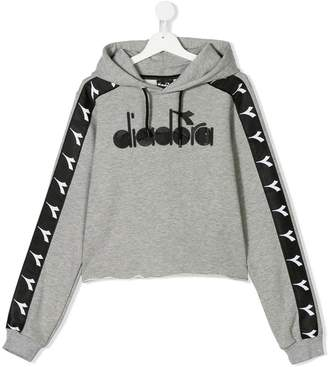 Diadora Junior TEEN logo patch branded hoodie
