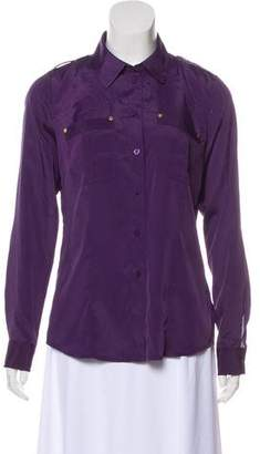 MICHAEL Michael Kors Silk Button-Up Blouse