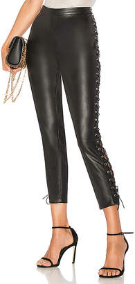 by the way. Cori Lace Up Faux Leather Pant