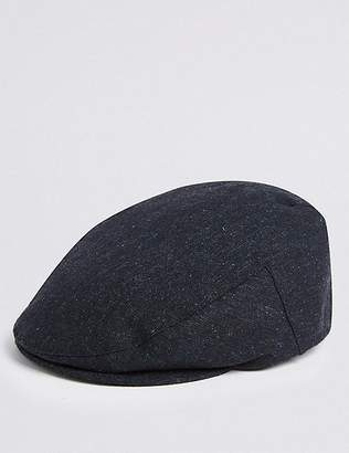 """Marks and Spencer Wool Blend Flat Cap with Stormwearâ""""¢"""
