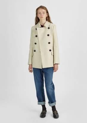 Etoile Isabel Marant Floffy Caban Coat Ecru